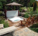 spas & hot tub with retreat and umbrella picture